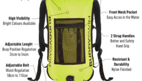 Backpack safety buoy